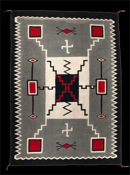 A Navajo Rug from Crystal Trading Post J.B. Moore Storm Pattern