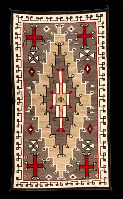 A large Navajo Rug from Klagetoh Trading Post