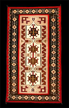 A Navajo Rug from Teec Nos Pos Trading Post