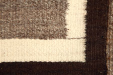 Example of a spirit line at the lower right corner of a Navajo Rug