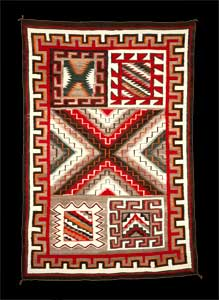 A Navajo Rug from Red Mesa Trading Post