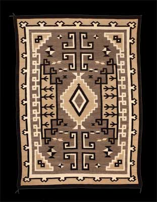 A fine example of a Navajo Rug by Frances Manuelito from Two Gray Hills Trading Post